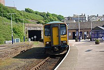 Carlisle train pulls into Whitehaven Station - geograph.org.uk - 1348342.jpg