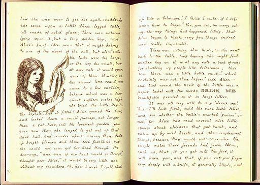 Original Manuscript of Alice in Wonderland