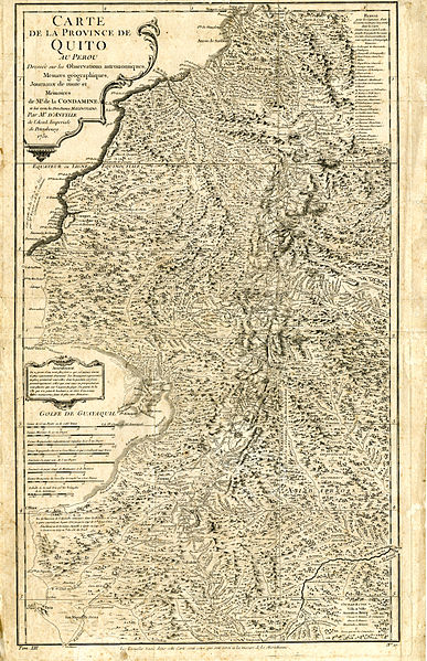 Archivo:Carta Geográfica de la Costa Occidental en la Audiencia del Quito (1751), por Jorge Juan y Antonio de Ulloa - AHG.jpg