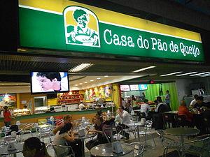 Pão de queijo - Casa do Pão de Queijo at the Afonso Pena International Airport, in São José dos Pinhais, Paraná, Brazil.