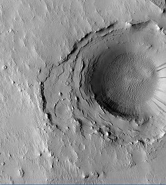 Cassini (Martian crater) - Image: Cassini crater floor
