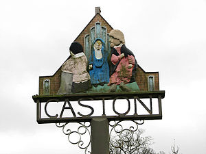 Caston - Village sign for Caston