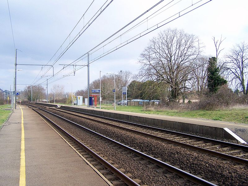 Train station of Caudrot (Gironde, France)