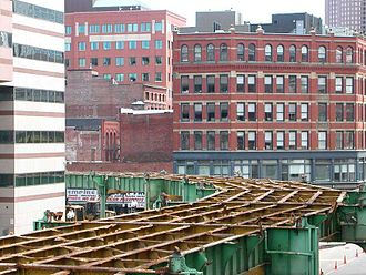 Causeway Street Elevated - The Causeway Street Elevated during deconstruction in September 2004