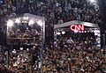 Celebration after Obama speech in Denver (press tents).JPEG