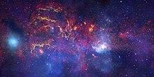 Vista do centro da galáxia em diversos comprimentos de onda.