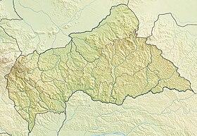Géolocalisation sur la carte : république centrafricaine