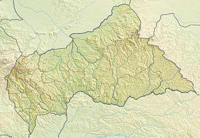 Location map Central African Republic