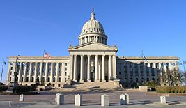 Central view of Oklahoma Capitol building.JPG