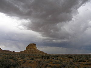 An image of Fajada Butte, Chaco Canyon (New Me...