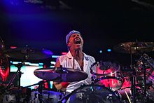Chad Smith performing with Red Hot Chili Peppers in Mexico City, Mexico DF on March 6, 2013.jpg