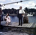 "Chana Eden and Emmett Kelly on the set of ""Wind Across the Everglades,"" Everglades National Park.jpg"