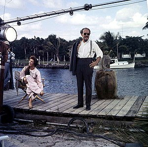 Wind Across the Everglades - Chana Eden and Emmett Kelly on set.