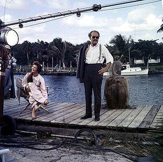 Wind Across the Everglades - Chana Eden and Emmett Kelly on set