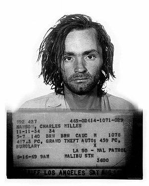 Charles Manson - Image: Charles mansonbookingphoto (enlarged) 1971