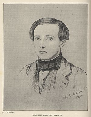 Charles Allston Collins - Charles Allston Collins by John Everett Millais in 1850