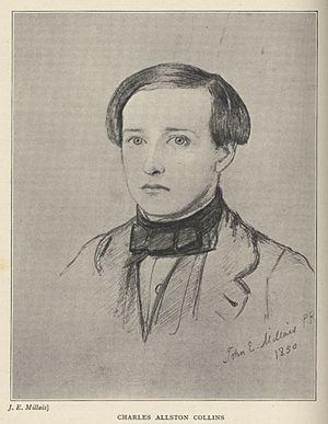 Charles Allston Collins - Charles Allston Collins by John Everett Millais in 1850
