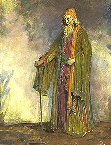 the merchant of venice sir herbert beerbohm tree as shylock painted by charles buchel 1895 1935