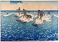 Charles W. Bartlett - 'Surf-Riders, Honolulu', State B, 1919, color woodcut.jpg