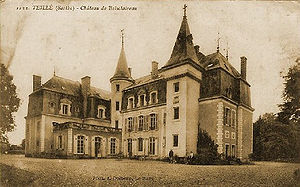Sarthe - The Château de Boisclaireau, residence of the Gueroust family, Counts of Boisclaireau, in Sarthe.