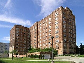 historic building in Detroit, Michigan, USA