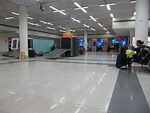 Baggage screening & ticketing area