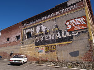 Chehalis, Washington - Ghost sign in Chehalis.