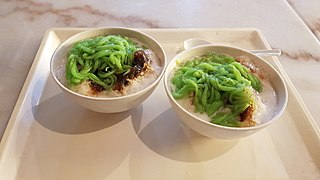 Cendol traditional dessert from Southeast Asia