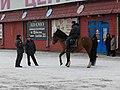 Cherkizovskaya, policemans preparing to guard a footbal stadium (Черкизовская, милиционеры, готовящиеся охранять стадион во время футбольного матча) (5380196105).jpg