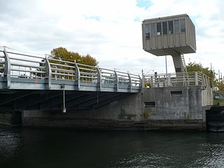 Cherry Street lift bridge bridge in Canada
