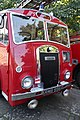 Cheshire County Fire Brigade Audlem engine, Dennis Fire Water Tender F8 from 1953, registration RMB 996 - front - Birkenhead Park Festival of Transport 2012.jpg