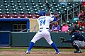 Cheslor Cuthbert batting (17027553798).jpg
