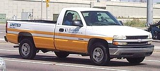 United Van Lines - Chevrolet Silverado regular cab from the company.