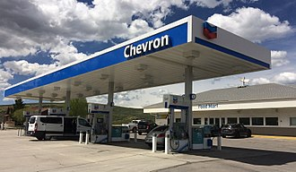 Chevron Corporation - A Chevron gas station in Diamondville, Wyoming (taken on May 27, 2018).