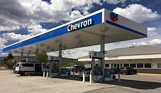 Chevron Corporation - A Chevron gas station in Diamondville, Wyoming (taken on May 27, 2018).