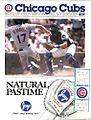 Chicago Cubs Wrigley Field 1987 Official Scorecard vs Philadelphia Phillies.JPG