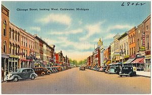 Coldwater, Michigan - Image: Chicago Street, looking west, Coldwater, Michigan (68042)