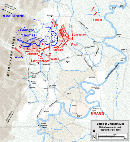 Battle Of Chickamauga Map