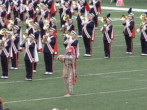 Chief Illiniwek - Chief Illiniwek with the University of Illinois Marching Illini