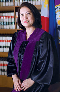 Maria Lourdes Sereno 24th Chief Justice of the Republic of the Philippines