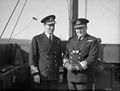 Chief of Combined Operations on Visit of Inspection. 6 March 1943, at HMS Armadilla and HMS Pascoe, Lord Louis Mountbatten Chief of Combined Operations Inspect Units of His Command. A15100.jpg