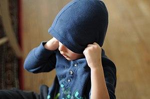 Hoodie - Boy wearing a hoodie