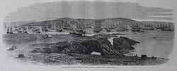 The Chincha guano islands in Peru. February 21, 1863.