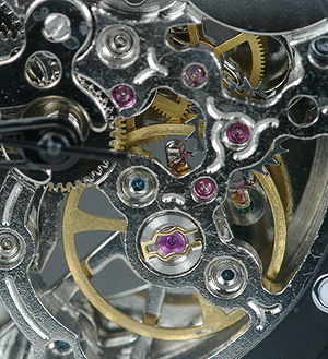 Balance wheel - Modern balance wheel in a watch movement