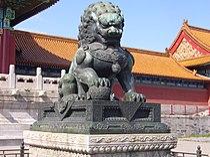 Chinese tempelleeuw rechts.JPG