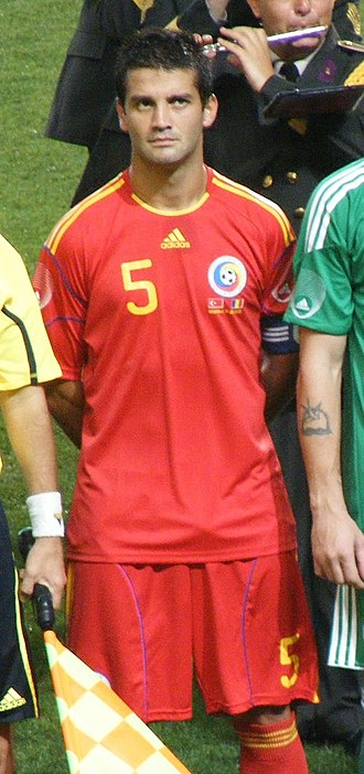 Cristian Chivu - Chivu lining up for Romania in August 2010.