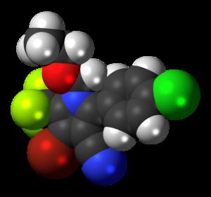 Chlorfenapyr - Image: Chlorfenapyr 3D spacefill
