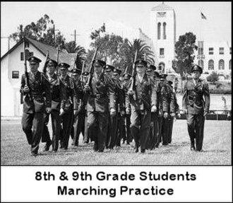 Cheviot Hills Military Academy - Students marching