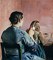 Christian Krohg - Braiding her Hair - Google Art Project.jpg