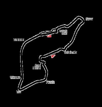 1991 San Marino Grand Prix - The Imola circuit in its 1991 configuration